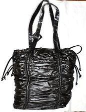 (NWT) Gwen Stefani L.A.M.B. Gunmetal Large Ruched Synthetic Tote (RRP $175.00)