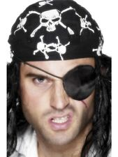 Deluxe Pirate Eyepatch Adult Unisex Smiffys Fancy Dress Costume Accessory