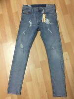 Mens Diesel TEPPHAR Stretch Denim R25H8 BLUE Slim W27-28 L30 H5 RRP£150