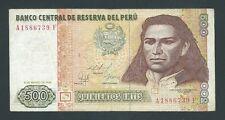 F.C. PERU , 500 INTIS 1986 , F.N.M.T. , B/C+ ( FINE+ ) , P.135 .