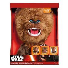 "STAR WARS ROAR & RAGE CHEWBACCA 16"" TALKING & MOVING PLUSH BRAND NEW UK SELLER"