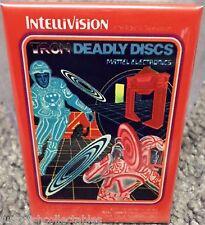 "Tron Deadly Discs Intellivision Vintage Game Box  2"" x 3"" Fridge Locker MAGNET"