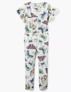 NWT GYMBOREE Beautiful BUTTERFLY Pants ROMPER Outfit Girls SIZE M 7 8