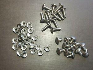 12 pcs 10-32 x 3/8 & 12 pcs 10-32 x 5/8 stainless grille rivet screws & nuts GM