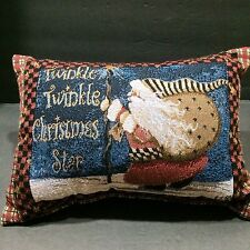 Santa Pillow Twinkle Twinkle Christmas Star St Nick Primitive Winter Holidays