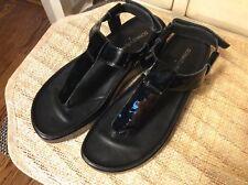 Donald J Pliner Women's thong Sandals Sling Back patent leather Comfort Sz 5.5