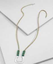 Silpada Vivacity Necklace N3433 925 Sterling Silver Patina Brass Beads