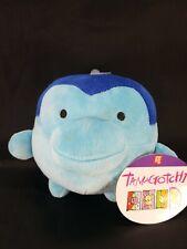 """Bandai 20th Anniversary Tamagotchi Ginjirotchi Blue 7"""" Stuffed Animal Plush"""