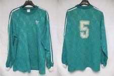 Maillot ADIDAS porté n°5 vert vintage trefoil shirt manches longues trikot L