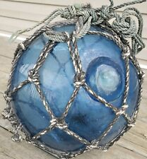 *Very Special Blue*Authentic Antique Japanese Glass Fishing Float