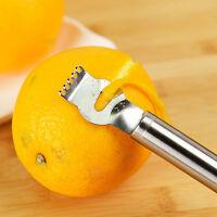 Zester Zestenreißer Edelstahl Reibe Zitrone äußersten Fruchtschale Entfer S X2O9