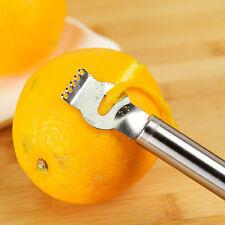 Lemon Fruit Zester Citrus Grater Stainless Steel Grips Lime Zest Peeling Tool