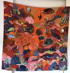 RARE VINTAGE HERMES SILK Under The Waves SCARF By Alice Shirley - Brand New