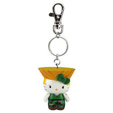 Hello Kitty Street Fighter Guile Figure Keychain NEW Toys Toynami Keyring