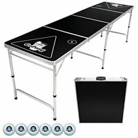 Portable America Flag Folding Beer Pong Tailgate Table - 8 Foot