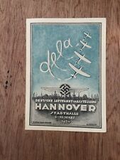 More details for 1934 hannover flight exhibition card