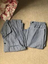 TU mens / boys pyjamas size s small blue white stripes