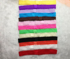 10Pcs Kids Baby Girls Headband Crochet Lace Hairband Headwear Elastic Hair BandS