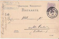 Germany Postkarte: Carl Urich, Frankfurt Ab Oder Business Postkarte, 1887 - ph93