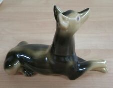 Doberman pinscher figurine Brazil dog. Vintage