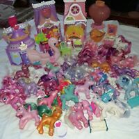 My Little Pony HUGE Mixed Lot 30 Figures Acc.  14 lbs Sweet Shop Salon Swan Boat