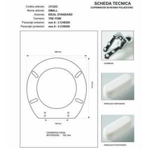 Copriwater Ideal Standard  SMALL GIALLO MANCHU  Cerniera Rallentata Soft Close