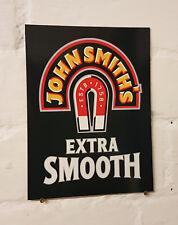 Signo de Aluminio Metal John Smiths Retro Vintage Bar Pub Cueva de hombre signos de cerveza