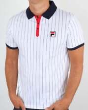 Fila Vintage BB1 Polo Shirt - White, Navy & Red - BNWT