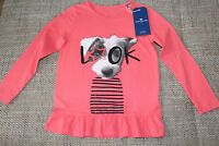 Neu Langarm t-shirt Gr. 104/110 von TOM TAILOR, pink, 100% Baumwolle