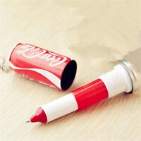 1pc Coca Sprite Shaped Ball Pen Retractable Pen With Key Chain Kid Gift Random