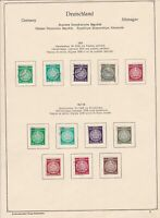 germany 1956/57/58 democratic republic stamps page  ref 18747