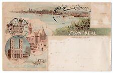 MONTREAL Quebec 1901 Toronto Litho. Co. Carte Pionnière Gruss Aus Type Postcard