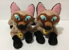 "12"" Disney Si & Am Siamese Cat Bean Bags Plush Toys From Lady & The Tramp"