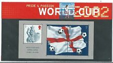 GREAT BRITAIN 2002 WORLD CUP MINIATURE SHEET PRESENTATION PACK