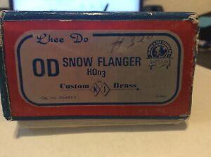 Brass NJ International HOn3 S&RGW OD Snow Flanger with Original Box