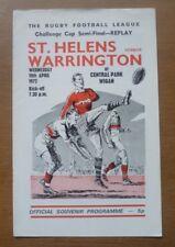 St. Helens v Warrington, 19/04/1972 - Challenge Cup Semi-Final Replay Programme.