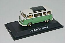 Schuco 1/43 VOLKSWAGEN VW SAMBA T1 splitscreen bus van 21W GREEN/WHITE 02716