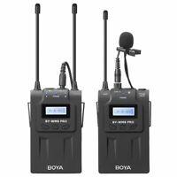 Boya By-Wm8 Pro-K1 Uhf Wireless Lavalier Microphone Kit For Eng Efp Dslr Ca G3I6