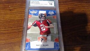 2008 SCORE MATT RYAN #333 SUPER BOWL XLIII-BLUE GEM MT 10 SPA