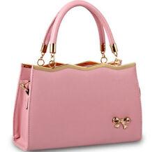 NEW Red Fashion Bow Women PU Leather Handbag Shoulder Bag Messenger Totes Purse