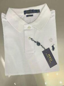 Ralph Lauren Men's Long Sleeve Polo Custom  Fit size small white