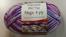Patons Patonyle Merino Magic 4 Ply #5556 Purple Passion Sock Yarn 50g