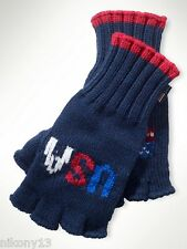 NWT Authentic Official Polo Ralph Lauren Olympics Sochi 2014 Gloves, Size S/M