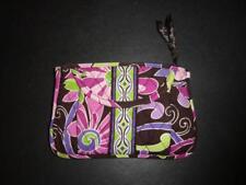 Vera Bradley Belt Bag Fanny Pack Quilted Purple Plum Lime Green Zip Flap Floral