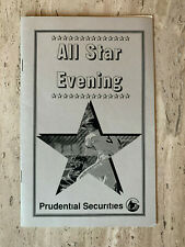 "6-Mlb All Stars Signatures on Corporate ""All Star Evening"" Program, 1995"