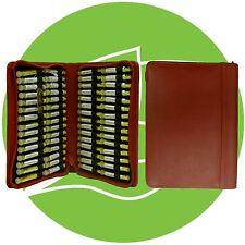 Homöopathische Taschenapotheke 60xGlobuli  n.Wahl rote Ledertasche PZN 08001542