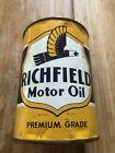Original+Vintage+Richfield+One+Quart+Motor+Oil+Can+Metal+Gas+Sign+%7EFULL%7ENOS%7E