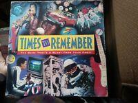 Times To Remember Board Game Milton Bradley Original 1991 vintage