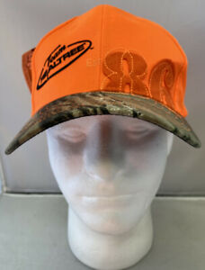 Team Realtree Est 1986 Orange & Camouflage Baseball Cap Hat   NEW