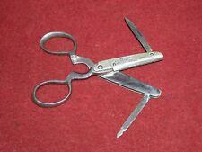 Antique Multi-Tool Scissors, Cutter, Knife, File, Peters Cutlery Co Patent 1889